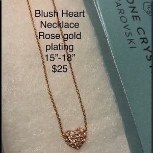 Blush Heart Necklace